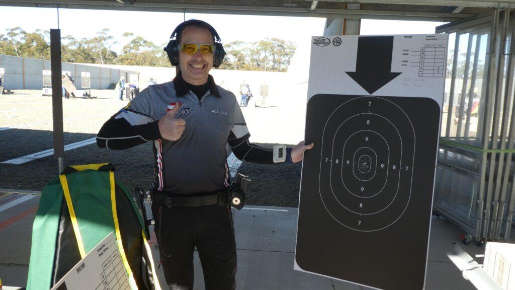 Walter Selb ist stolz auf sein Schießergebnis