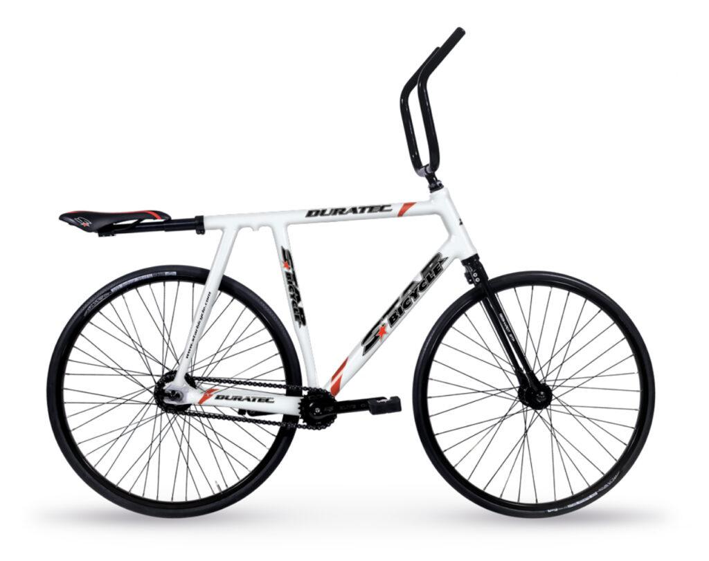 Ein Radballrad mit dem markanten Lenker und dem nach hinten versetzten Sattel