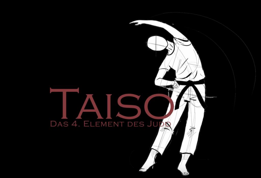 Screenshot Youtube zeigt einen stilisierten Judoka bei der Gymnastik