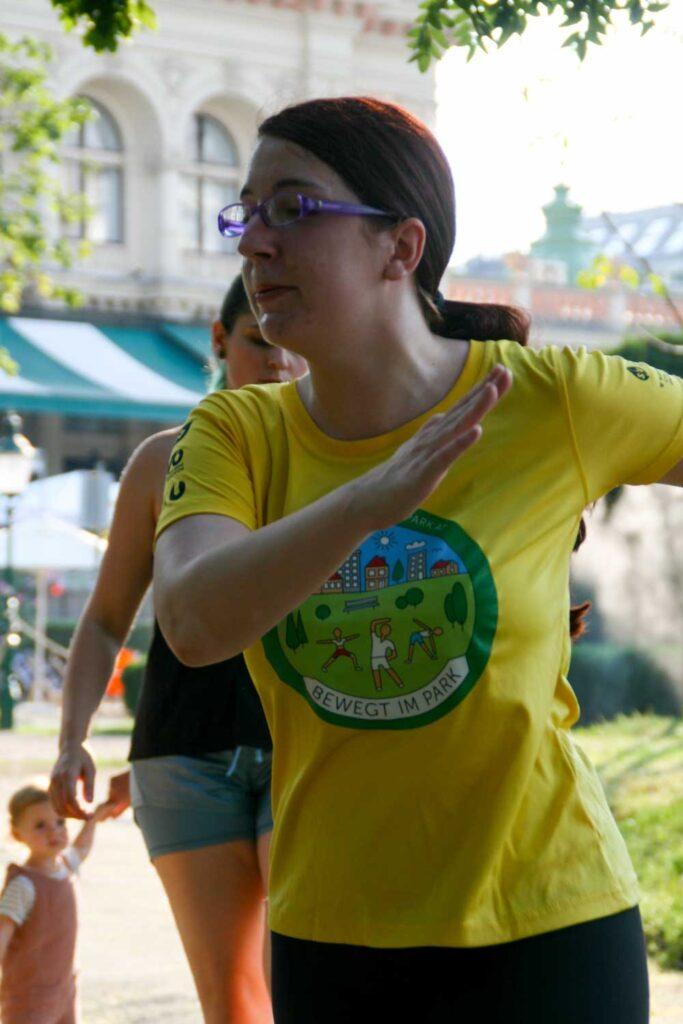 Jasmin Kohlenbrein beim Tanzen